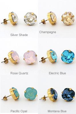 catherine popesco stud earrings, crystal post earrings, la vie parisienne ghyxzle