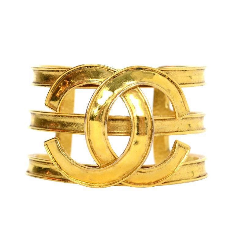 chanel vintage u002794 gold cuff bracelet 1 bbdnyod