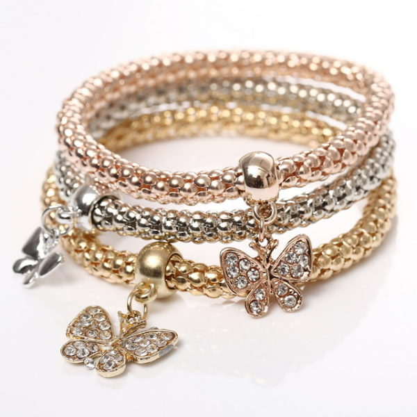 charm bracelets for women 2016-3pcs-gold-filled-charm-bracelets-for-women- tytiuss