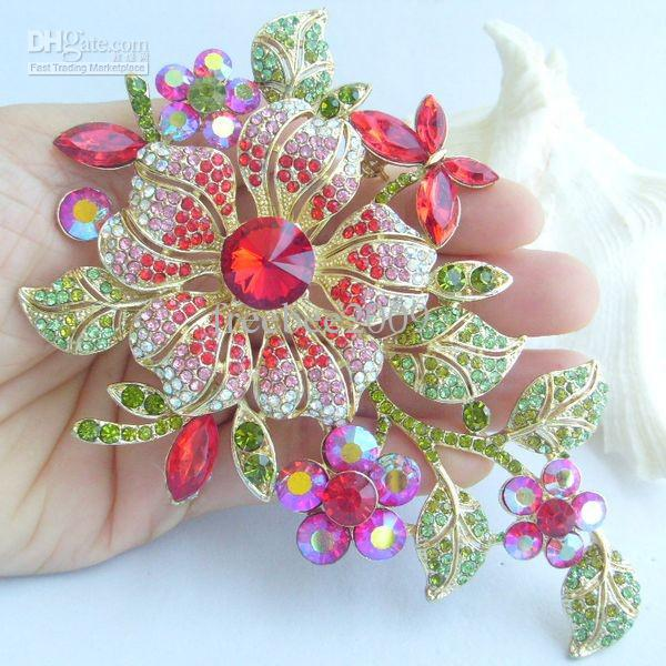 cheap brooch flower - wholesale 4 72gorgeous orchid flower brooch . hokfnic