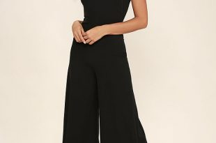 chic black jumpsuit - backless jumpsuit - wide-leg jumpsuit - $78.00 vzrksqw