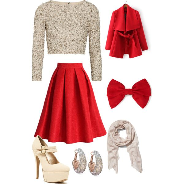 christmas party outfits a fashion look from november 2014 featuring alice + olivia tops, chicwish  skirts and ariebxb