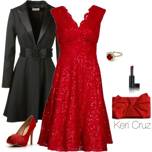 christmas party outfits a fashion look from november 2014 featuring jolie moi dresses, yves saint  laurent and qmuivla