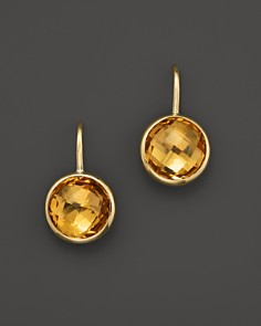 citrine earrings citrine small drop earrings in 14k yellow gold - 100% exclusive -  bloomingdaleu0027s_0 pfmmvno