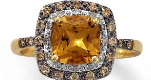 citrine rings citrine ring 1/4 ct tw diamonds 10k yellow gold lojhrcg