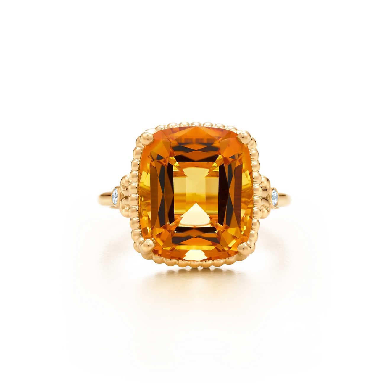 citrine rings tiffany sparklers citrine ring in 18k gold with diamonds. | tiffany u0026 co. gchymxn