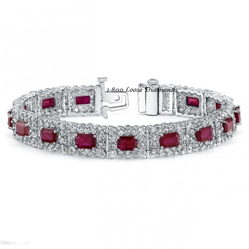 classic style diamond u0026 ruby bracelet qxbdpyn