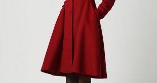 coat,red coat, hooded coat, womens coats, wool coat,long coat,winter coat  woman,winter coat,wool jacket,winter jacket,dress rdiywzm