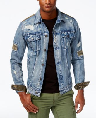 coats for men american rag menu0027s rip u0026 repair denim jacket, created for macyu0027s eresjfl