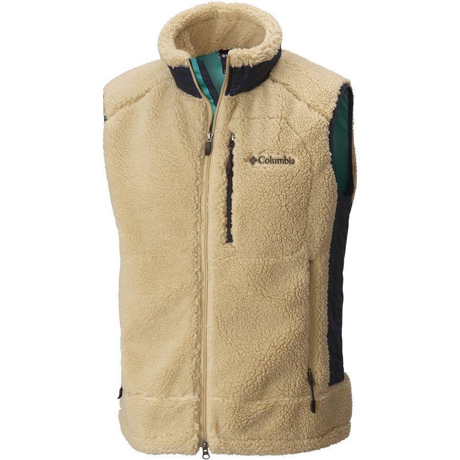 columbia - j-line archer ridge fleece vest - menu0027s - sierra tan tulorvv