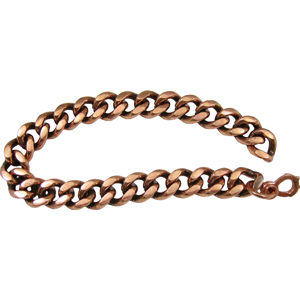 copper chain bracelet - 9-inch (heavy) zxbadhn