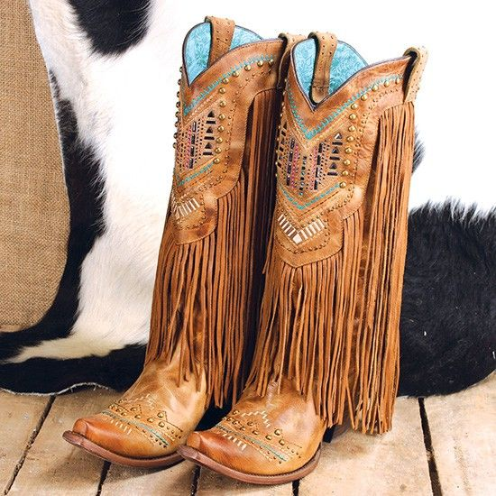 corral bling fringe boots zuubfje