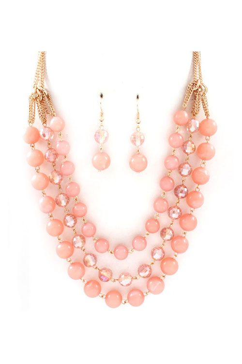 costume jewelry necklaces kylie necklace in blush on emma stine limited jgrcsxv