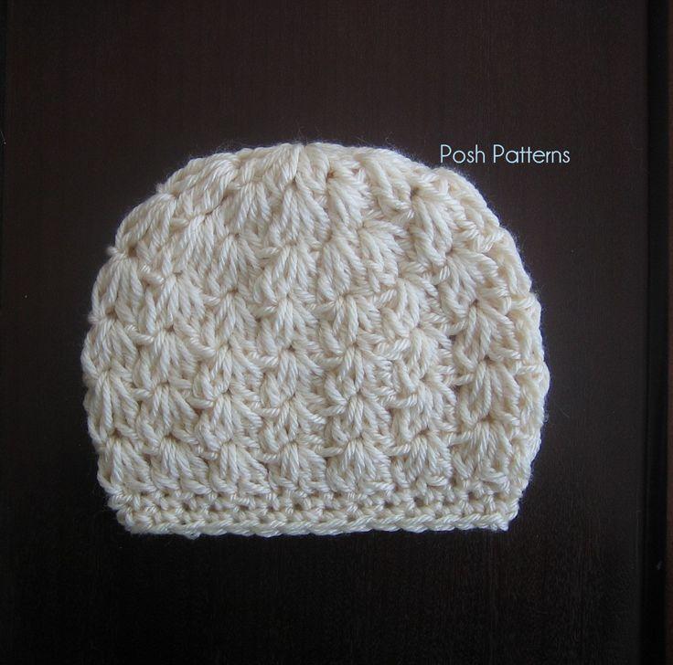 crochet baby hats crochet pattern - cluster shells crochet hat pattern najfphe