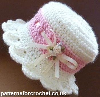 crochet baby hats free baby crochet pattern for brimmed hat from http://patternsforcrochet.co. gbpkemy