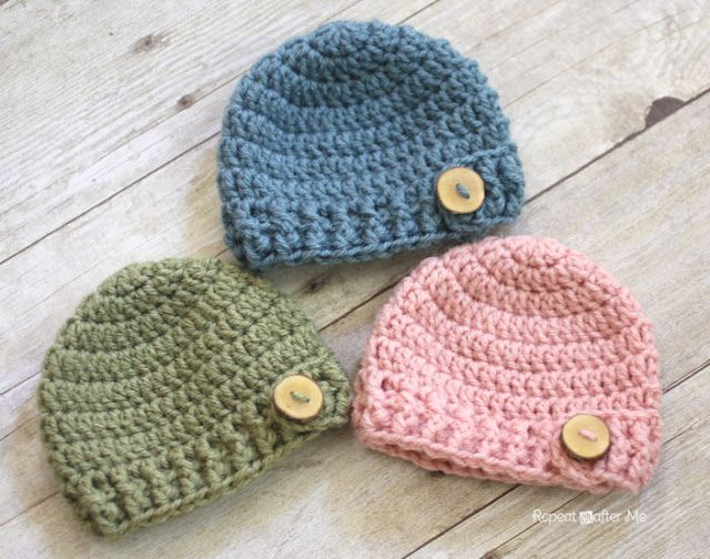 crochet baby hats i like the idea of using wooden or another type of buttons on the hat qcvopch