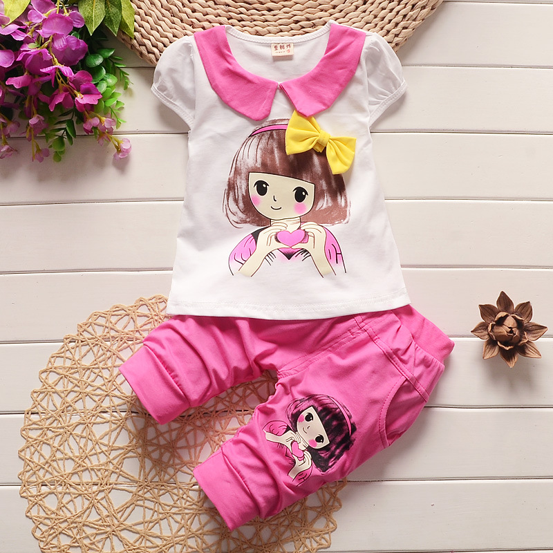 cute baby clothes new baby clothing set cute baby girls clothes little girl t shirt + pants jpxdzmf