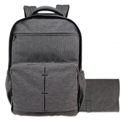 damero travel nappy backpack baby nappy bag with large changing pad, dark  grey gpcwewf