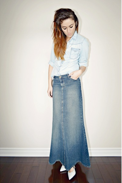 denim maxi skirt blue denim maxi urban outfitters skirt vtuqmbu