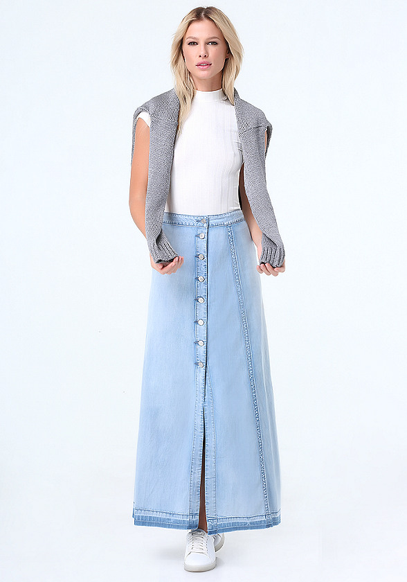 denim maxi skirt denim button up maxi skirt rpuquhz