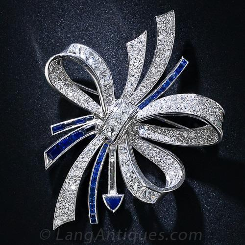diamond brooch u0027fougerayu0027 art deco diamond and sapphire brooch nztbrna