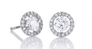 diamond earrings de beers aura stud earrings gptkajj