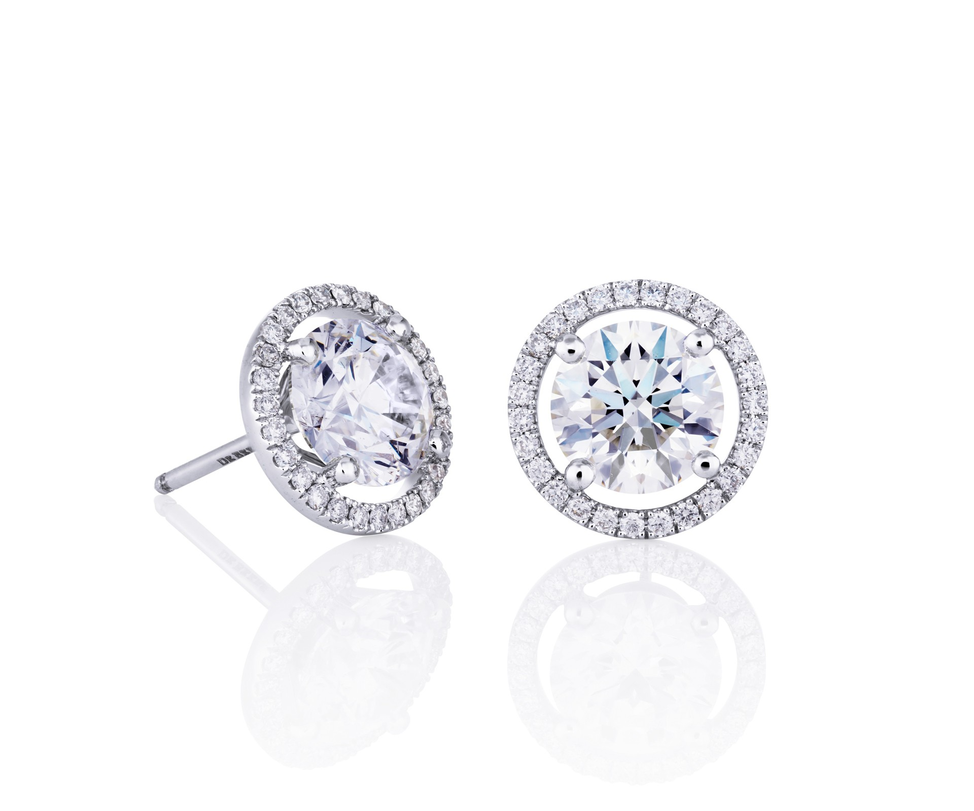 diamond earrings de beers aura stud earrings yrepmkd