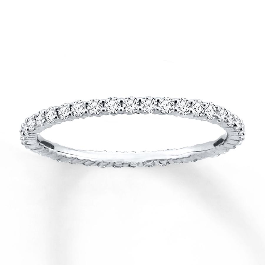 diamond eternity ring 1/2 ct tw round-cut 14k white gold cecvgdw