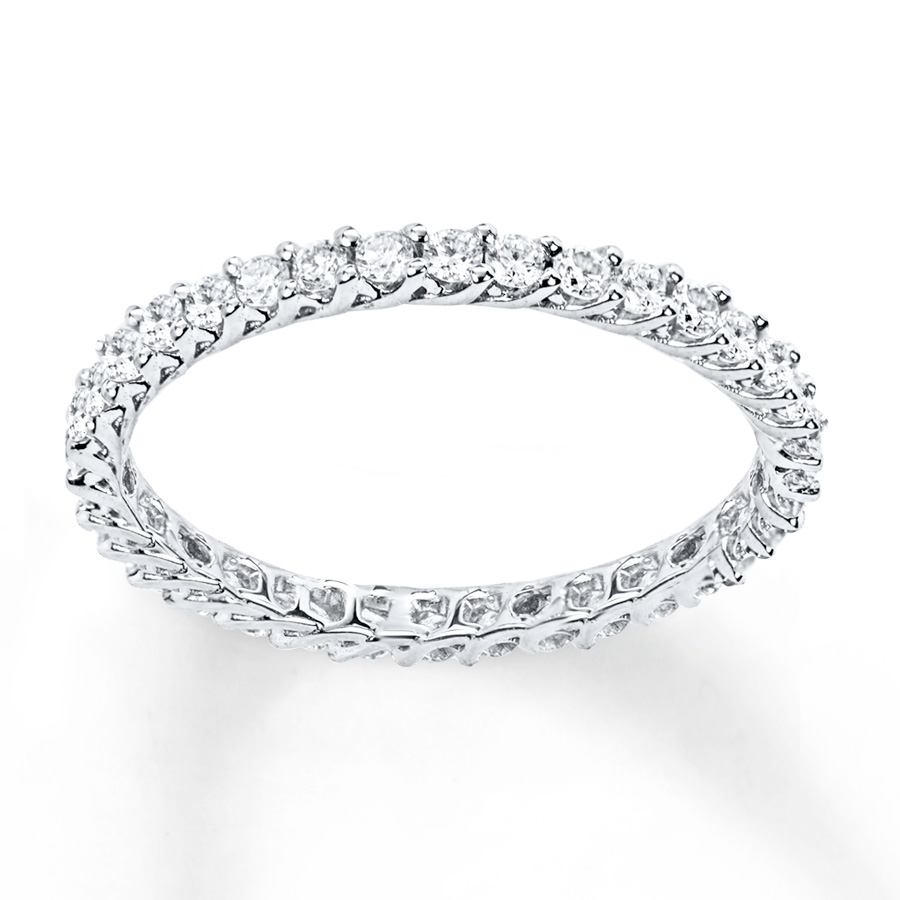 diamond eternity ring 1/2 ct tw round-cut 14k white gold ympgjal