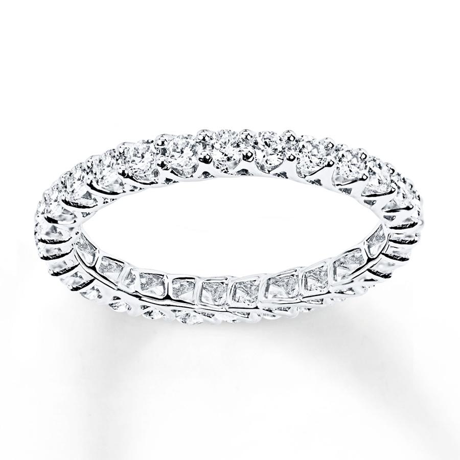 diamond eternity ring 1 ct tw round-cut 14k white gold vcxdaru