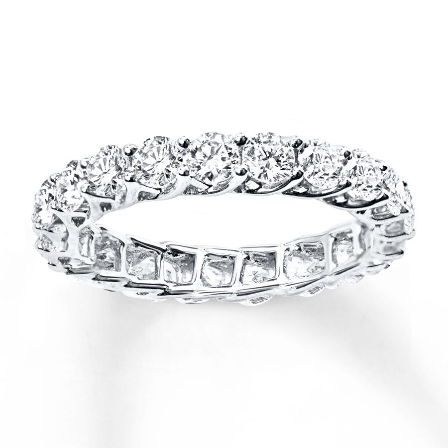 diamond eternity ring 2 ct tw round-cut 14k white gold wwfyrra
