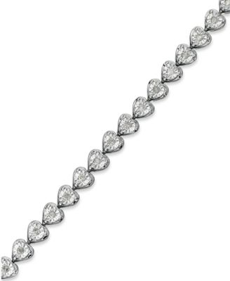 diamond heart bracelet (1/2 ct. t.w.) in sterling silver zgvijbg