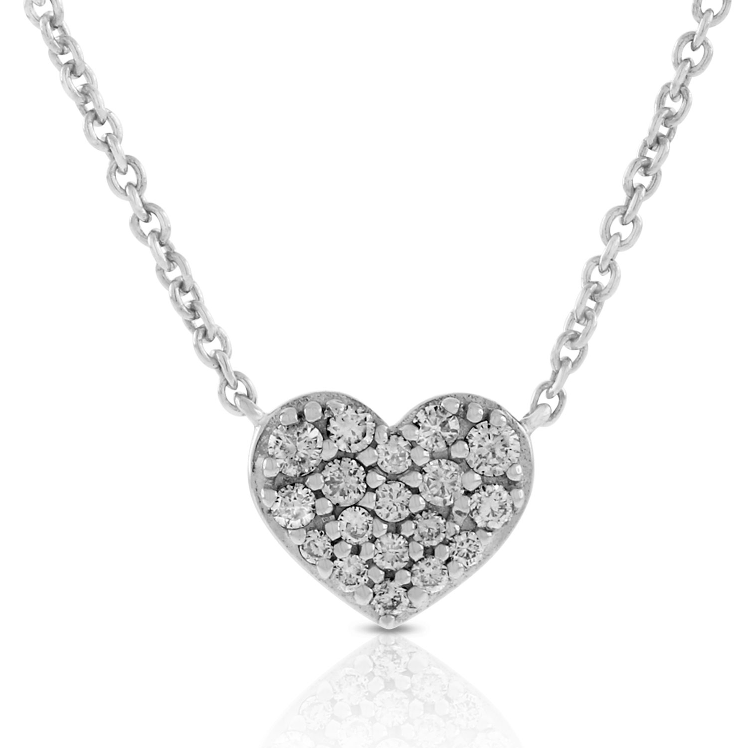 Getting a Design in Diamond Heart Necklace is Lovely