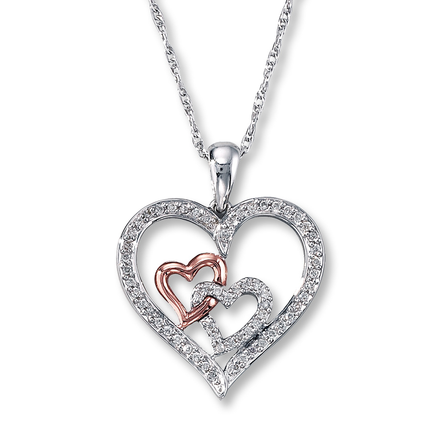 diamond heart necklace hover to zoom qtzvvaw