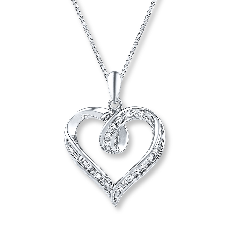 diamond heart necklace hover to zoom xoorlwc