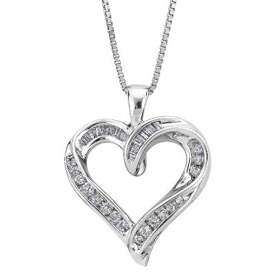 diamond heart necklace quick look inhxbks
