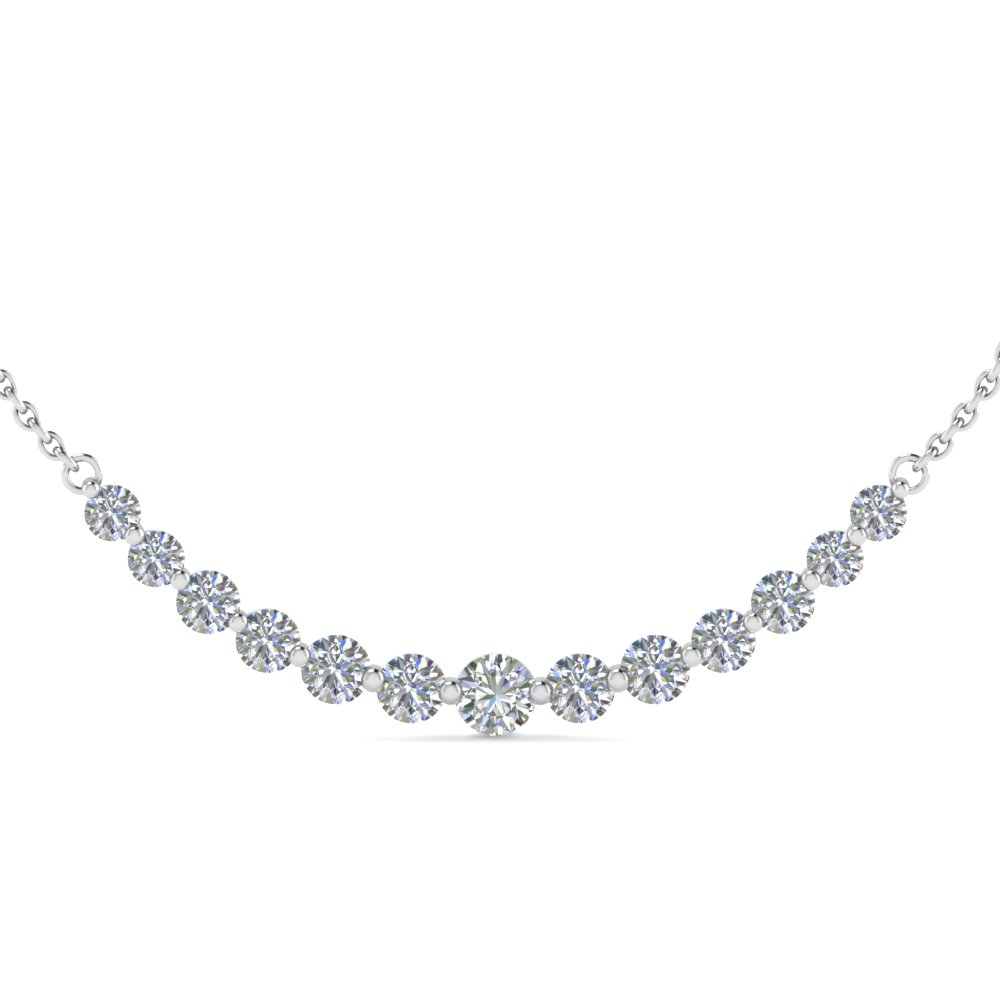 diamond necklace for women diamond necklace with white diamond in 14k white gold fhswddy