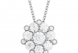 diamond pendant necklace beloved cluster diamond pendant wmycatj