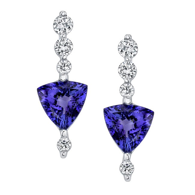 diamond tanzanite earrings smhxuss