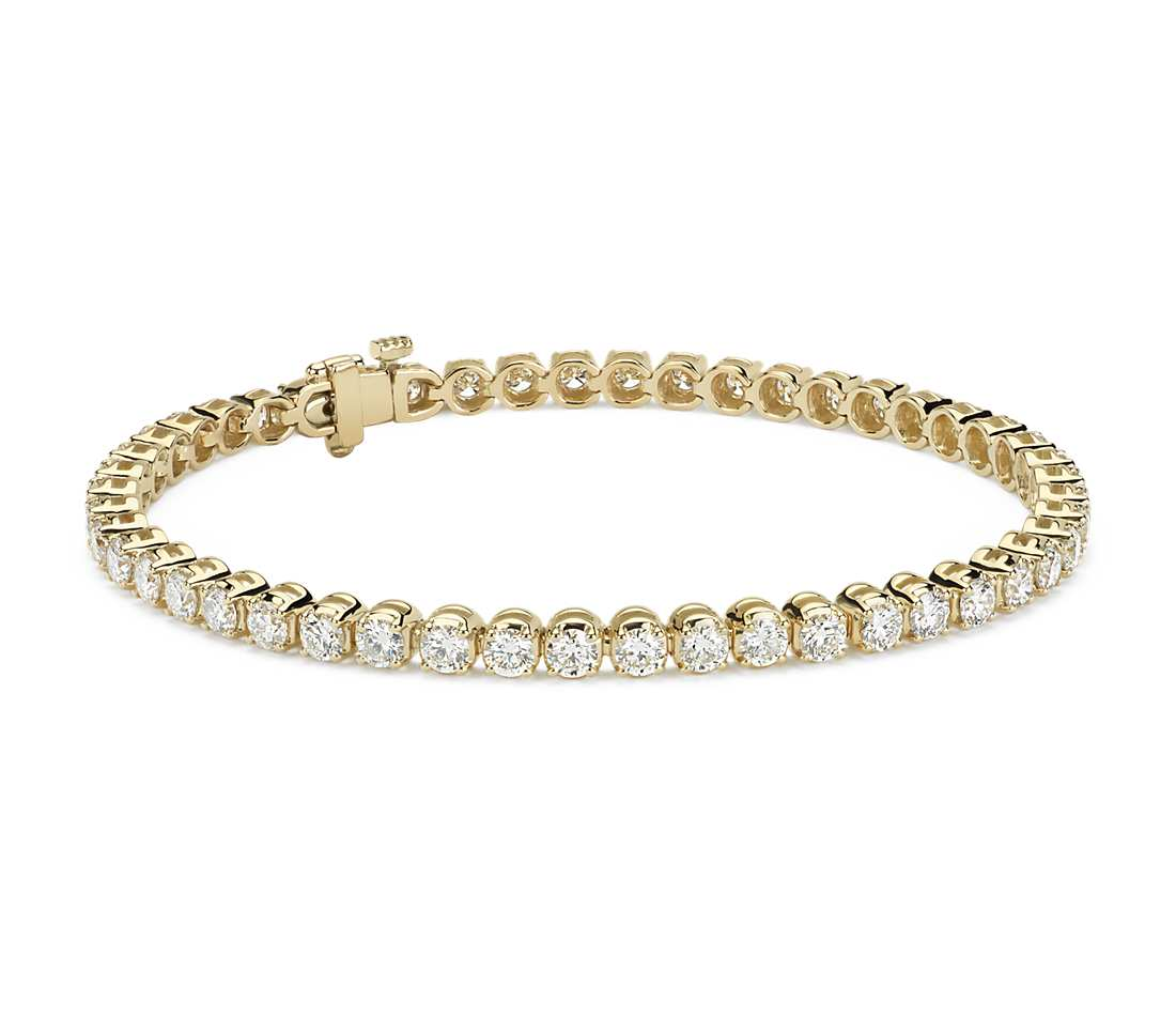 diamond tennis bracelet in 18k yellow gold (5 ct. tw.) rgugmfr