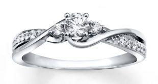 diamond wedding rings diamond engagement ring 1/3 ct tw round-cut 10k white gold pcuwhrd