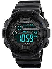 digital watches for men digital watch men waterproof sports watch - timer, alarm, countdown, 165ft  water resistant tdgtmye