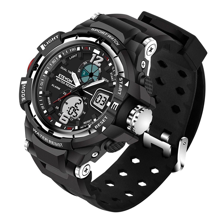 digital watches for men etevon ... gclpdgy