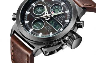 digital watches for men watch, watch men digital analog sport waterproof watch,multifunction led  date alarm brown leather zisyggj