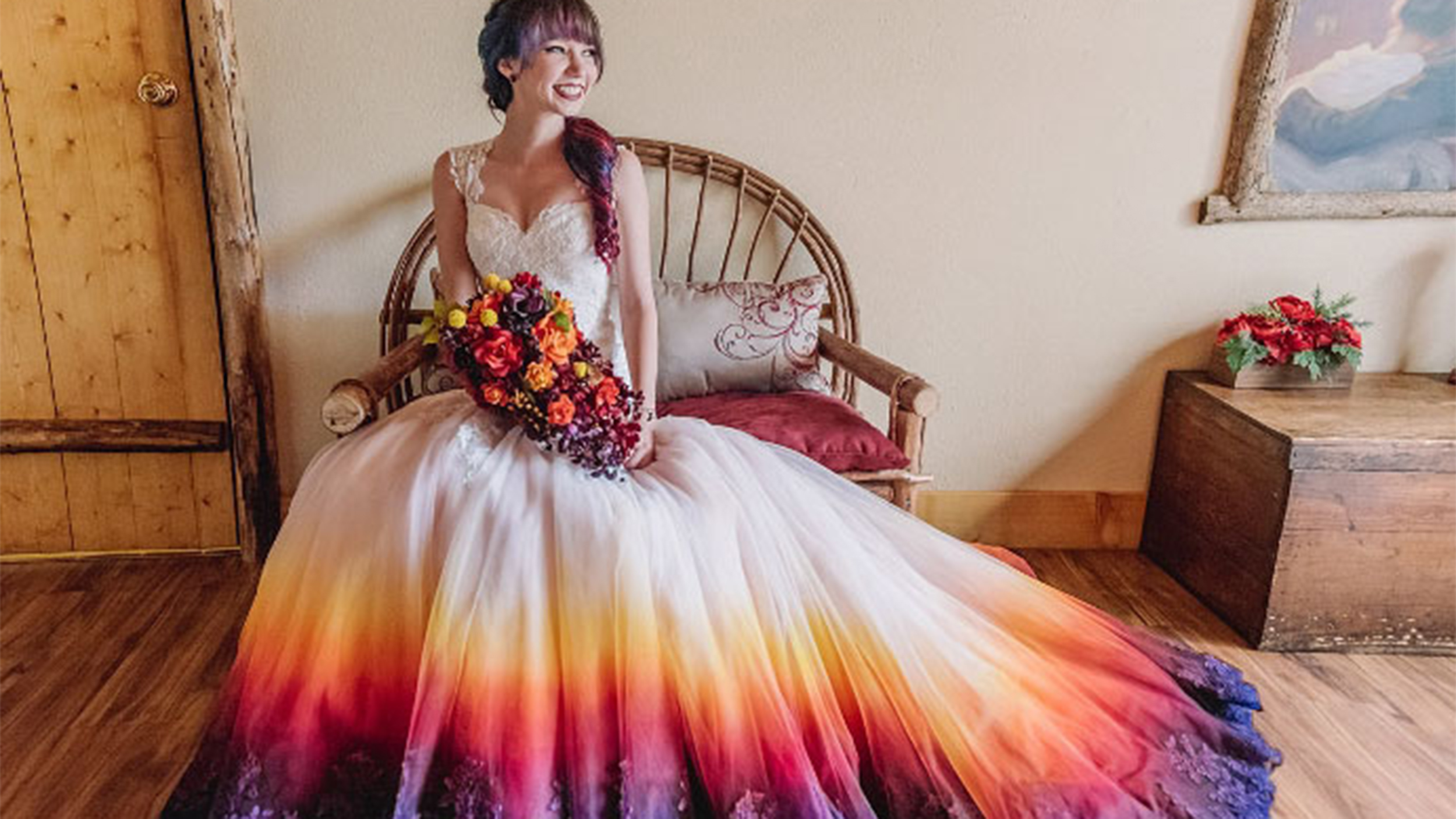 dip-dyed, colorful wedding dresses are the new bridal trend - today.com hukjttf