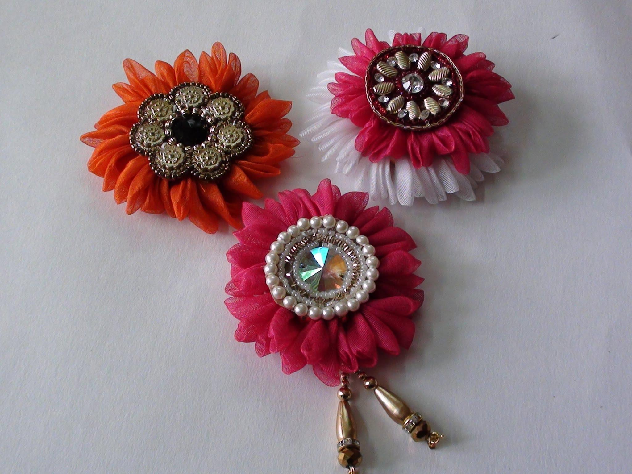 do it yourself fabric flower brooch - youtube orgxyki