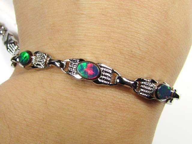 doublet opal bracelet featuring a lovely gold plated bracelet that would be  a great xjavqmr