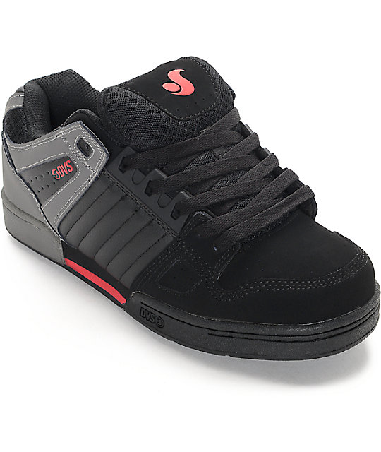 dvs shoes dvs celsius black, grey u0026 red skate shoes aorhrna