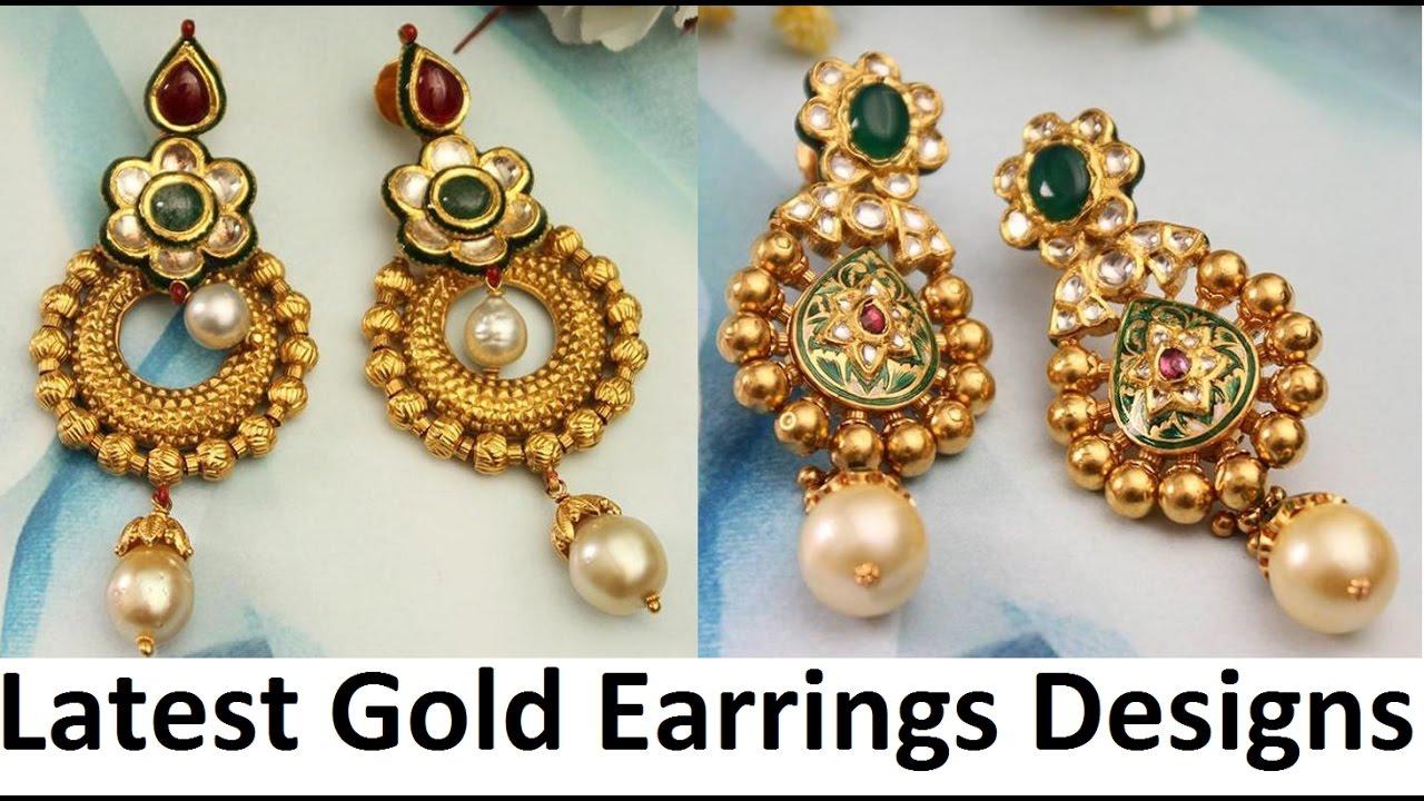 earring designs latest gold earrings designs - youtube mhqsoag