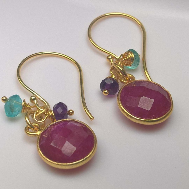 earring designs ruby beads earrings design qypmtue
